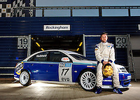 Haryr Vaulkhard poses for Photo BTCC media day 2009, at Rockingham Motorspeed way, Corby