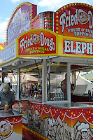 Fried dough booth at Cheshire Fair in Swanzey, New Hampshire USA