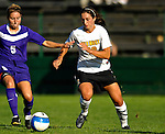 31 August 2007: University of Vermont Catamounts forward Carson Laderoute, a Sophomore from Rutland, VT, in action against the University of Central Arkansas Sugar Bears at Historic Centennial Field in Burlington, Vermont. The Catamounts defeated the Sugar Bears 1-0 during the TD Banknorth Soccer Classic...Mandatory Photo Credit: Ed Wolfstein Photo