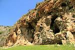 Hamikdash cave overlooking Nahal Kziv