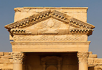 Detail of the theatre at Palmyra, Syria. Ancient city in the desert that fell into disuse after the 16th century.