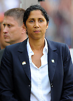 OC-Chief Steffi Jones of Germany during the FIFA Women's World Cup at the FIFA Stadium in Berlin, Germany on June 26th, 2011.