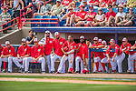 3 March 2016: Members of the Washington Nationals watch play from the dugout during a Spring Training pre-season game against the New York Mets at Space Coast Stadium in Viera, Florida. The Mets fell to the Nationals 9-4 in Grapefruit League play. Mandatory Credit: Ed Wolfstein Photo *** RAW (NEF) Image File Available ***