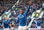 Hearts v St Johnstone&hellip;19.03.16  Tynecastle, Edinburgh<br />Darnell Fisher celebrates his goal<br />Picture by Graeme Hart.<br />Copyright Perthshire Picture Agency<br />Tel: 01738 623350  Mobile: 07990 594431