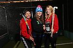 Drink Awareness Wales.Carmarthen Hockey Club.Kate Williams, Gwenno Davies & Ruby Breeze..04.12.12..©Steve Pope