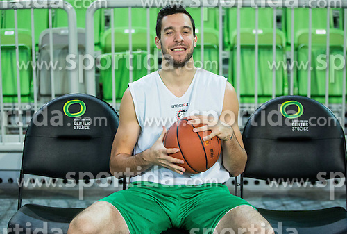 Mitja Nikolic during practice session of KK Union Olimpija before new basketball season 2015/16, on September 29, 2015 in Arena Stozice, Ljubljana, Slovenia. Photo by Vid Ponikvar / Sportida
