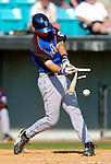 18 March 2006: Joe Hietpas, catcher for the New York Mets, gets a broken bat single during a Spring Training game against the Washington Nationals at Space Coast Stadium, in Viera, Florida. The Nationals defeated the Mets 10-2 in Grapefruit League play...Mandatory Photo Credit: Ed Wolfstein Photo..