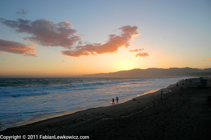 The sunset in Santa Monica on Wednesday, May 18, 2011.