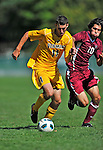 18 September 2011: University of Vermont Catamount Midfielder Connor O'Brien, a Senior from Richmond, VT, in action against the Harvard University Crimson at Centennial Field in Burlington, Vermont. The Catamounts shut out the visiting Crimson 1-0, earning their 3rd straight victory of the 2011 season. Mandatory Credit: Ed Wolfstein Photo