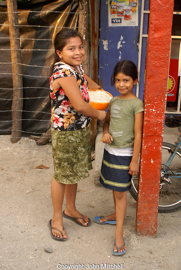 Two girls in rural El Salvador