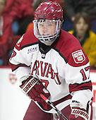 Sean Malone (Harvard - 17) - The visiting Brown University Bears defeated the Harvard University Crimson 2-0 on Saturday, February 22, 2014 at the Bright-Landry Hockey Center in Cambridge, Massachusetts.