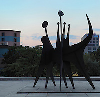 Tetes et Queue, 1965, sculpture by Alexander Calder, 1898-1976, at the Neue Nationalgalerie or New National Gallery, a modern art museum opened 1968 at the Kulturforum in West Berlin, Germany. Picture by Manuel Cohen