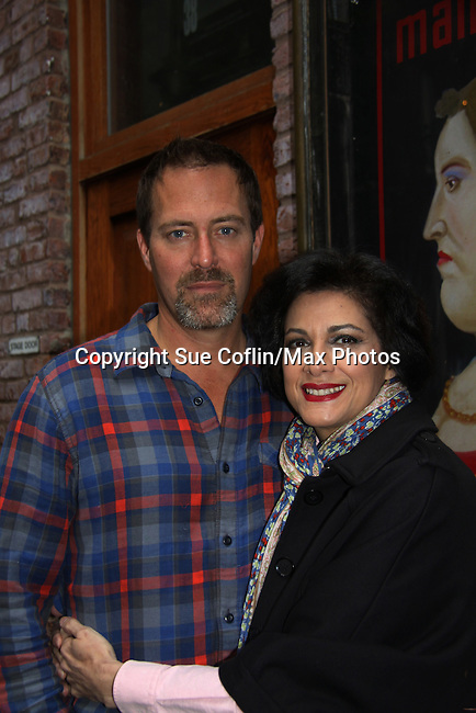 Guiding Light Robert Bogue and Saundra Santiago (also One Life To Live) star in the off-Broadway play Manipulation on May 23, 2011 at the Cherry Lane Theatre, New York City, New York. (Photo by Sue Coflin/Max Photo)