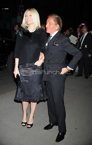 Gwyneth Paltrow with Valentino at the New York Premiere of 'Valentino: The Last Emperor' at The Museum of Modern Art in The Roy and Niuta Titus I Theater. March 17, 2009 Credit: Dennis Van Tine/MediaPunch