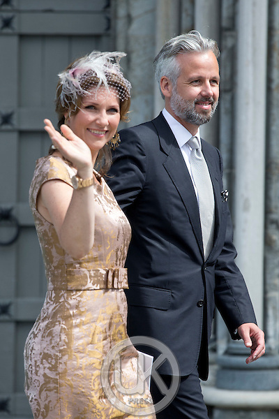 TRONDHEIM, NORWAY - JUNE 23:  Princess Martha Louise of Norway, and husband Ari Behn attend a service at Nidaros Cathedral on a visit to Trondheim, during the King and Queen of Norway's Silver Jubilee Tour, on June 23, 2016 in Trondheim, Norway.