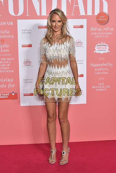 Lady Victoria Hervey<br /> arrivals at London's Fabulous Fund Fair 2016 in aid of the Naked Heart Foundation at Old Billingsgate Market on 20th February 2016.<br /> CAP/PL<br /> &copy;Phil Loftus/Capital Pictures