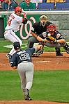 12 April 2008: Washington Nationals' first baseman Nick Johnson at bat against the Atlanta Braves at Nationals Park, in Washington, DC. The Braves defeated the Nationals 10-2...Mandatory Photo Credit: Ed Wolfstein Photo