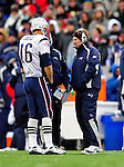28 December 2008: New England Patriots' Head Coach Bill Belichick talks with quarterback Matt Cassel during a game against the Buffalo Bills at Ralph Wilson Stadium in Orchard Park, NY. The Patriots kept their playoff hopes alive defeating the Bills 13-0 in their 16th win against Buffalo of their past 17 meetings. ***** Editorial Use Only ******..Mandatory Photo Credit: Ed Wolfstein Photo