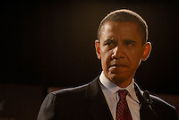 ATLANTA, GA - August 4, 2007: US Senator and Democratic Presidential candidate Barack Obama speaking at the Southern Christian Leadership Conference's (SCLC) First Ladies Awards Celebration at the Atlanta Marriott Marquis. It was Obama's 46th birthday.