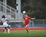 Oxford High vs. Lafayette High's Maddie Houghton (20) in girls high school soccer in Oxford, Miss. on Saturday, December 8, 2012.