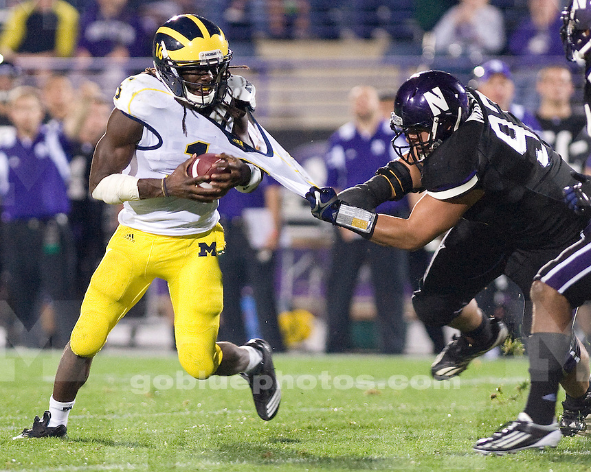 The University of Michigan football team beat  Northwestern University 42-24 at Ryan Field in Evanston, Ill., on October 8, 2011.