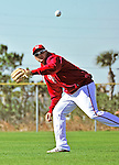 28 February 2010: Washington Nationals third baseman Ryan Zimmerman warms up before Spring Training drills at the Carl Barger Baseball Complex in Viera, Florida. Mandatory Credit: Ed Wolfstein Photo