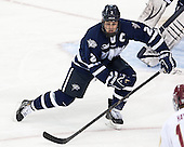Connor Hardowa (UNH - 2) - The Boston College Eagles defeated the visiting University of New Hampshire Wildcats 5-2 on Friday, January 11, 2013, at Kelley Rink in Conte Forum in Chestnut Hill, Massachusetts.