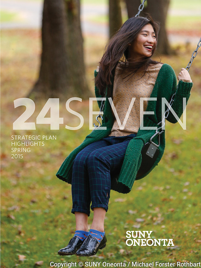 24Seven: This publication featured photos and short texts about dozens of planned and spontaneous events that happened during one week at SUNY Oneonta.