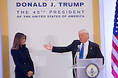 President-elect of The United States Donald J. Trump introduces First Lady-elect Melania Trump to Republican leadership January 19, 2017 the day before his swearing in as 45th President of The United States. <br /> Credit: Chris Kleponis / Pool via CNP