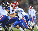 Ole Miss vs. Louisiana Tech's Hunter Lee (36) in Oxford, Miss. on Saturday, November 12, 2011.