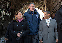 NEW YORK - JANUARY 06: Mayor of New York , Bill de Blasio talks with City Council Melissa Mark-Viverito and  Congressman Adriano Espaillat during the Three Kings Day Parade in East Harlem January 6, 2017 in New York City. The parade celebrates the Feast of the Epiphany, also known as Three Kings Day, marking the Biblical story of the visit of three kings to Bethlehem to visit the baby Jesus, revealing his divinity. Photo by VIEWpress/Maite H. Mateo