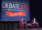 Karl Rove and Robert Gibbs, Hofstra Debate 2012