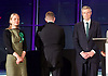 Mayor of London and London Assembly results announcement at City Hall, London, Great Britain <br /> 6th May 2016 <br /> <br /> <br /> Sian Berry - Green Party <br /> <br /> Paul Golding - Britain First <br /> <br /> Zac Goldsmith - Conservative<br /> <br /> <br /> The winner was Sadiq Khan who is appointed the new mayor of London <br /> <br /> <br /> <br /> Photograph by Elliott Franks <br /> Image licensed to Elliott Franks Photography Services