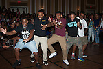 Kappa Alpha Psi participates in a stomp off judged by members at the Multicultural Student Expo and Involvement Fair. Photo by Olivia Wallace