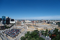 1997 June 05..Redevelopment..Macarthur Center.Downtown North (R-8)..LOOKING WEST.FROM SCHOOL ADMINISTRATION BUILDING.SUPERWIDE..NEG#.NRHA#..