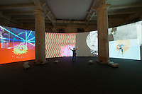 55th Art Biennale in Venice - The Encyclopedic Palace (Il Palazzo Enciclopedico).<br /> Arsenale.<br /> Stan VanDerBeek (U.S.A.) &quot;Movie Mural&quot;, 1968/2013.