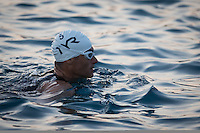 Craig Alexander prepares for the swim start at the 2013 Ironman World Championship in Kailua-Kona, Hawaii on October 12, 2013.