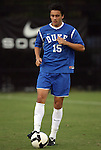 11 October 2009: Duke's Cole Grossman. The Duke University Blue Devils defeated the University of North Carolina Greensboro Spartans 3-0 at Koskinen Stadium in Durham, North Carolina in an NCAA Division I Men's college soccer game.