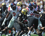 Vanderbilt running back Zac Stacy (2) runs against Ole Miss in Nashville, Tenn. on Saturday, September 17, 2011. Vanderbilt won 30-7..