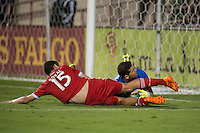 SANTA CLARA, CA - October 14, 2014: The San Jose Earthquakes vs CDS Vida match at Buck Shaw Stadium in Santa Clara, CA. Final score SJ Earthquakes 2, CDS Vida 1.