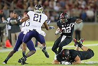 STANFORD, CA - October 5, 2013: Stanford Cardinal running back Anthony Wilkerson (32) during the Stanford Cardinal vs the Washington Huskies at Stanford Stadium in Stanford, CA. Final score Stanford Cardinal 31, Washington Huskies  28.