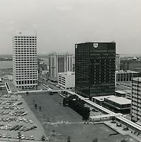 1970 June 08..Redevelopment...Downtown South (R-9)..Downtown Financial District looking West..Millard Arnold.NEG# MDA70-62-8.NRHA#..