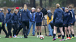 RALEIGH, NC - MARCH 13: Trialist Yuri Kawamura (JPN) (center). The North Carolina Courage held their first ever training session on March 13, 2017, at WRAL Soccer Center in Raleigh, NC to start their preseason before the 2017 NWSL Season. Prior to its offseason relocation the team was known as the Western New York Flash.