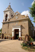 Nineteenth century church in the town of El Quelite near  Mazatlan, Sinaloa, Mexico