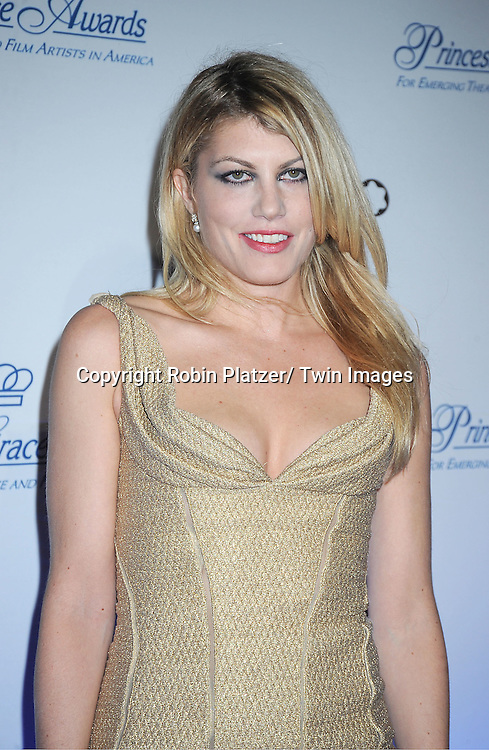 actress Meredith Ostrom attends The Princess Grace Foundation Awards Gala on ..November 1, 2011 at Cipriani 42nd Street in New York City.