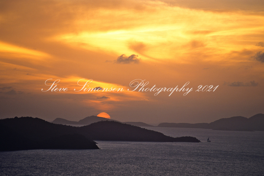 Sunset from Peter Island<br /> British Virgin Islands