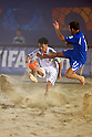 Takeshi Kawaharazuka (JPN),  Paolo Palmacci (ITA), AUGUST 28, 2011 - Beach Soccer : Crescentini Trophy match between Italy 1-2 Japan at Stadio del Mare in Marina di Ravenna, Italy, (Photo by Enrico Calderoni/AFLO SPORT) [0391]