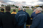 Alloa Athletic football supporters watching their team at Recreation Park during the Co-operative Insurance Cup second round match with visitors Aberdeen. Scottish League second division Alloa lost the match by three goals to nil against their Premier League rivals in a match watched by 1649 spectators.