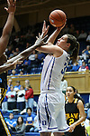 30 October 2012: Duke's Haley Peters. The Duke University Blue Devils played the Shaw University Lady Bears at Cameron Indoor Stadium in Durham, North Carolina in women's college basketball exhibition game. Duke won the game 138-32.