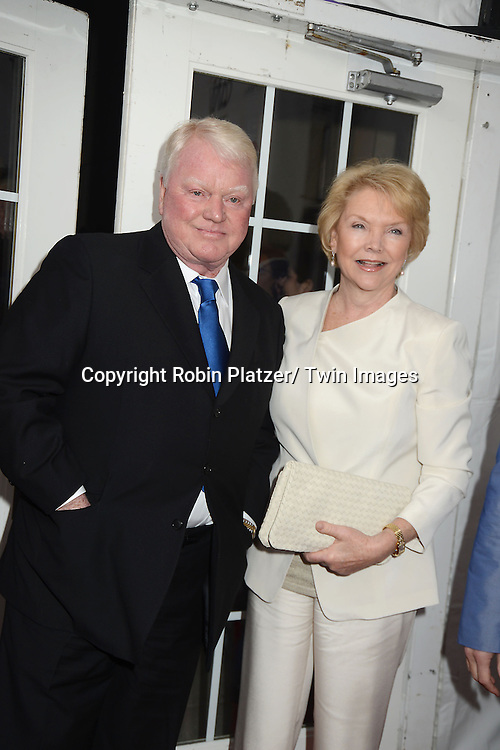 """Brian Davies and Erika Slezak attends the New York Premiere of """"All My Children"""" and. """"One Life to Live """" on April 23, 2013 at NYU Skirball Theatre in New York City. Prospect Park is producing the shows and they will air on www.hulu.com starting on April 29, 2013."""